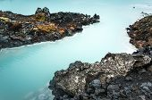 Iceland, Blue Lagoon, Natural Geothermal Spa, One Of The Most Visited Tourist Attractions In Iceland poster