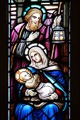 picture of stained glass  - Stained glass window in 19th century  - JPG