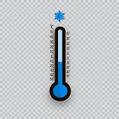 Meteorology Thermometers Isolated. Cold And Heat Temperature. Vector Illustration. Celsius And Fahre poster