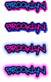 Brooklyn Graffiti Vector imagem