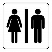 Restroom Sign. Male And Female Toilet Icon Denoting Restroom Facilities For Both Men And Women. Lady poster