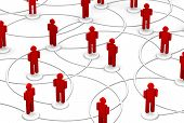 Network Of People - Communication Links