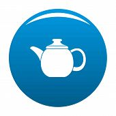 Steel Teapot Icon. Simple Illustration Of Steel Teapot Icon For Any Design Blue poster