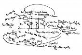 Circuit diagram and equations