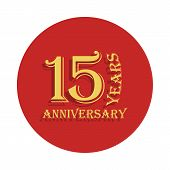 15 Years Anniversary Sign. Element Of Anniversary Sign. Premium Quality Graphic Design Icon In Badge poster
