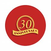 30 Anniversary Sign. Element Of Anniversary Sign. Premium Quality Graphic Design Icon In Badge Style poster