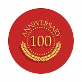 100 Anniversary Sign. Element Of Anniversary Sign. Premium Quality Graphic Design Icon In Badge Styl poster