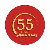 55 Years Anniversary Sign. Element Of Anniversary Sign. Premium Quality Graphic Design Icon In Badge poster
