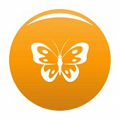 Butterfly In Wildlife Icon. Simple Illustration Of Butterfly In Wildlife Icon For Any Design Orange poster