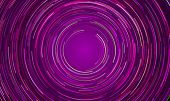 Circular Geometric Vortex Background Of Blue And Purple Light. Vector Space Galaxy Swirl In Slow Mot poster