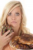 Woman Shocked Donut