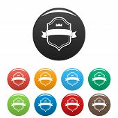 Badge Best Quality Icon. Simple Illustration Of Badge Best Quality Icons Set Color Isolated On White poster