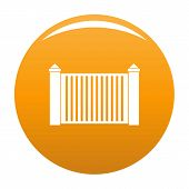 Steel Fence Icon. Simple Illustration Of Steel Fence Icon For Any Design Orange poster