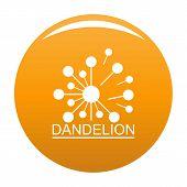 Meadow Dandelion Logo Icon. Simple Illustration Of Meadow Dandelion Icon For Any Design Orange poster