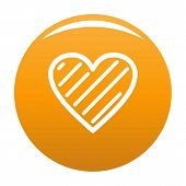 Simple Heart Icon. Simple Illustration Of Simple Heart Icon For Any Design Orange poster