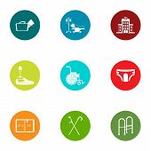 Therapist Icons Set. Flat Set Of 9 Therapist Vector Icons For Web Isolated On White Background poster