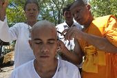 Young Monk Ordination In Thailand