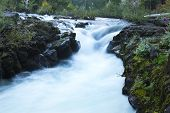 pic of rogue  - A waterfall in blurred motion on the Rogue River - JPG