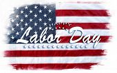 American flag. Happy Labor Day poster
