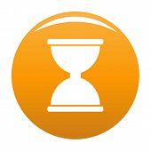 Cursor Click Loading Icon. Simple Illustration Of Cursor Click Loading Icon For Any Design Orange poster