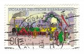Germany - Circa 1985: Stamp Printed In Germany, Shows 150 Years German Railways - John Sharkey From