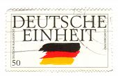 Germany - Circa 1995: A Stamp Printed In The Germany Shows German Flag, German Reunification, Circa