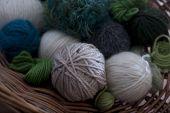 Green Wools In Basket