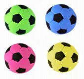 Four Soccer Balls