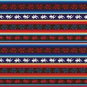 Seamless Mexican lizard fabric pattern
