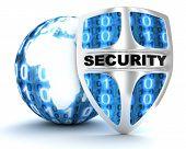 Tierra y escudo de seguridad