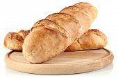 Homemade Bread On Wooden Breadboard