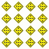 16 Height Limitation Traffic Sign