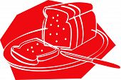 Bread Loaf And Slices Clip Art