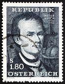 Postage stamp Austria 1966 Peter Anich, Cartographer