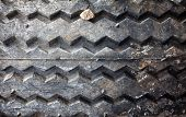 Worn Bias Ply Tire