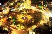 Fuente Osmena Circle At Night