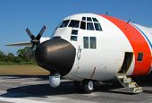 foto of coast guard  - Coast Guard patrol airplane preparing for mission - JPG