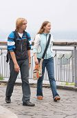 Walking Tourists poster