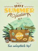 Vintage summer vacation poster