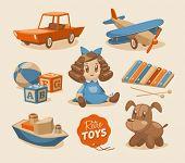 Emblemas de brinquedos