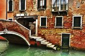 view of Ponte de la Corte Nova in Venice, Italy