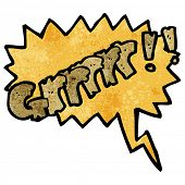 picture of growl  - comic book growl - JPG