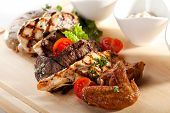 foto of brisket  - Grilled Meat Plate - JPG