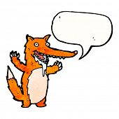 cartoon drooling fox