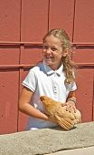 Mt Vernon, Wa - August 13 - 4H Child Chicken Judging At County Fair