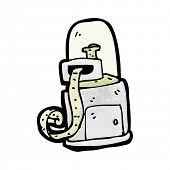 Cartoon-Börsenticker-Maschine