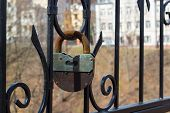 Large Rusty Iron Padlock