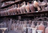 Römische Speicher Töpfe, Pompeji.