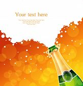 stock photo of congrats  - Vector illustration of champagne back eps 10 - JPG