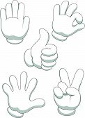 Hand sign cartoon